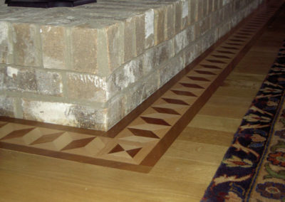 A windsor border around yet another stone hearth in Chillicothe, OH