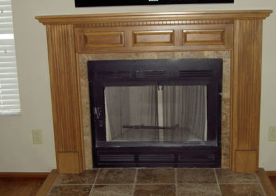 Another custom mantle to fit an existing fireplace in a tract home