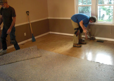 Carpet, pad, and tackstrip removal Upper Arlington, OH