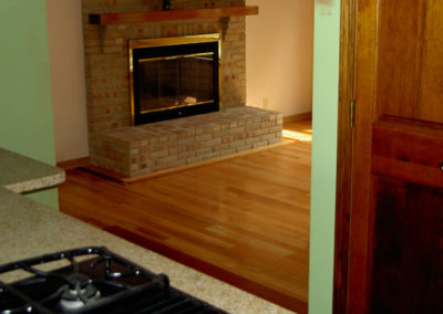 Healthy, natural, clean--site-finished hardwood floor
