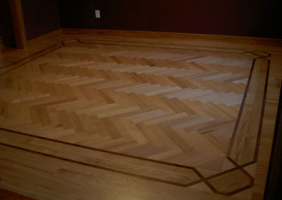No stain on this site-finished hardwood floor