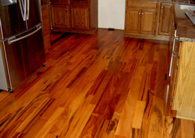 Site finished hardwood floor in Westerville, Ohio