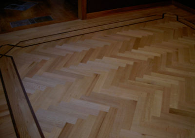 Site-finished hardwood floor with the bells and whistles