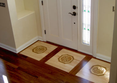 Three inlays furnished, installed, and designed in Dublin, Ohio