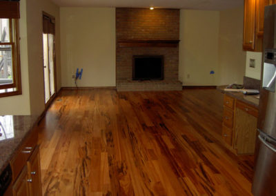 VOC compliant site-finished hardwood floor